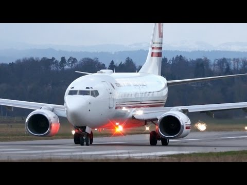 Boeing 737 TS-IOO  * Government of Tunisia * Take-Off at Bern