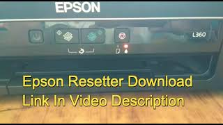 Epson L380 Resetter | And More Resetters Available Here