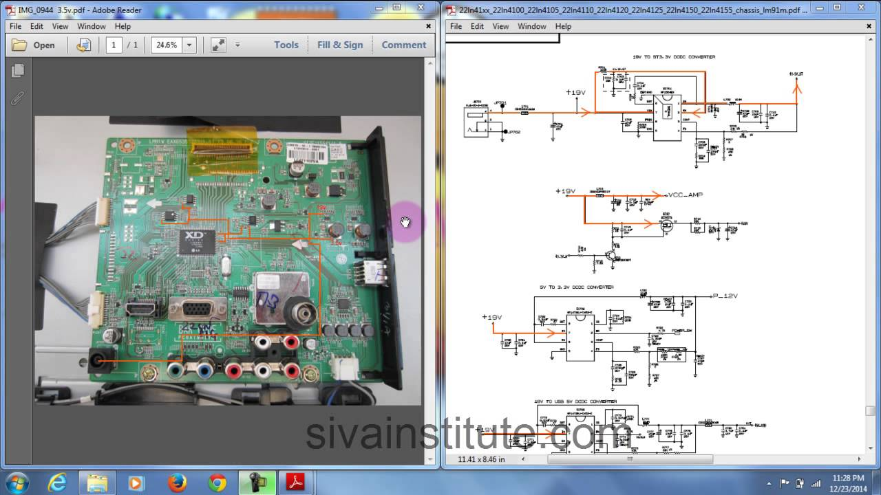 For Laptop Monitor Wiring Diagram How To Check Dead Led Tv Motherboard Step By Step Youtube