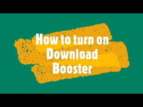 How to turn on Download Booster in Android Device