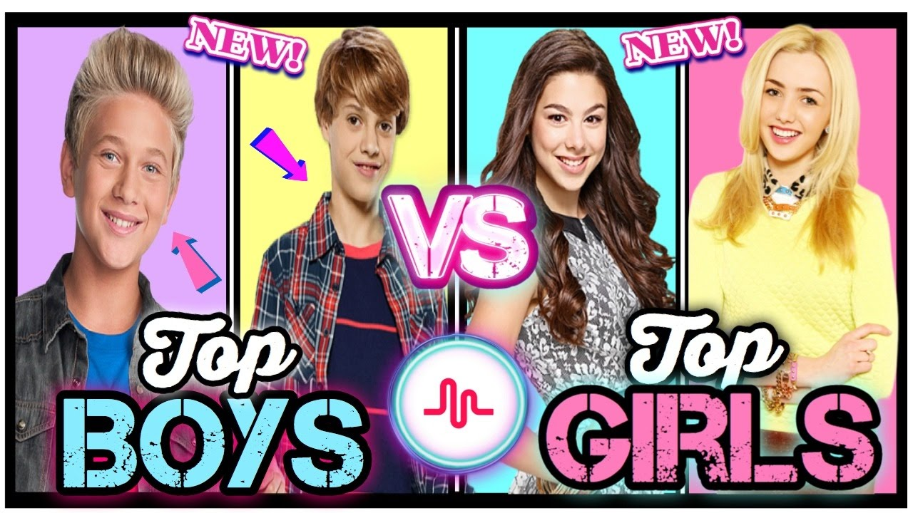 Famous Boys VS Girls Musical.ly Battle | Top Nickelodeon & Disney Channel Stars Musically