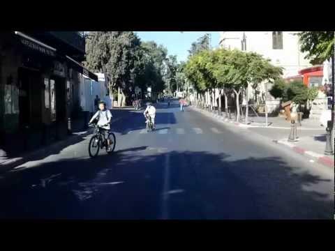 EMEK REFAIM street on YOM KIPPUR
