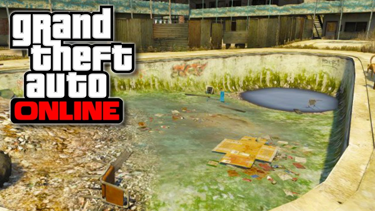 Swimming Pool Urinal : Gta online quot urinal shaped swimming pool easter egg