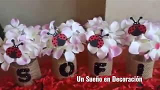 DECORACIÓN DE FRASCOS PARA FIESTAS - IDEA RECICLADO FRASCOS