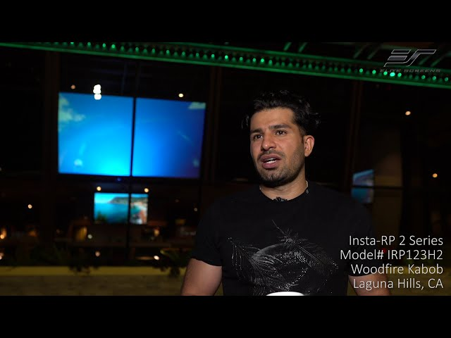 Elite Screens Insta-RP 2 Series Rear Projection Self-adhesive Film | Woodfire Kabob Testimonial