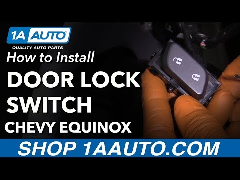 How To Replace Front Power Door Lock Switch 10 17 Chevy Equinox Youtube