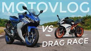 9 mv   yamaha r25 vs ktm rc 250   drag test