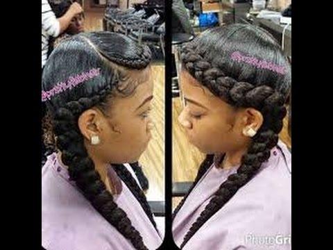 Best Braids Hairstyles For Black Women Tutorial Youtube