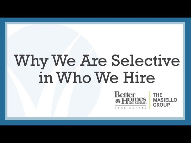 Why We Are Selective in Who We Hire