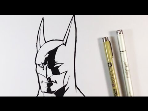 How to Ink Batman - Easy Drawings - YouTube