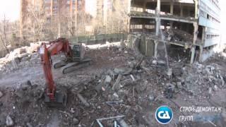 Аэросъемка сноса здания АТС в Москве(, 2015-03-27T09:55:48.000Z)