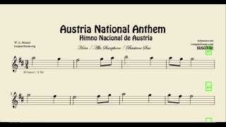 Austria National Anthem Sheet Music for Alto Saxophone Baritone Saxophone and Horn