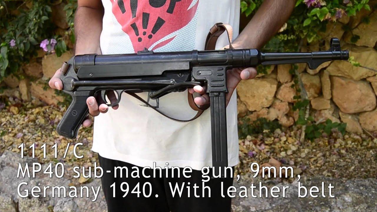 Denix MP41 sub-machine gun, 9mm, Germany 1940  With leather bolt