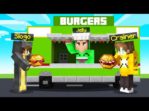 Opening JELLY'S FOOD TRUCK In MINECRAFT!