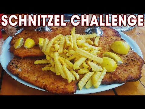 Massive Schnitzel Record Challenge in Germany!!