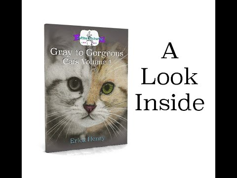 Gray To Gorgeous Cats Volume 1 Adult Coloring Book Look Inside Erica Henry Colors