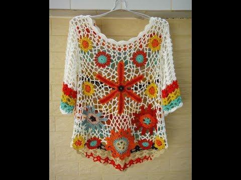 25c06ad985d62 Yazlık Tığ işi Örgü Bluz Modelleri & Crochet - YouTube