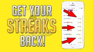 How to Get Your Snapchat Streak BACK! NEVER LOSE A STREAK AGAIN! (Snapchat Tips and Tricks)