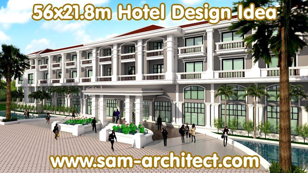 Sketchup hotel design idea samphoas 03 youtube for Youtube design hotels