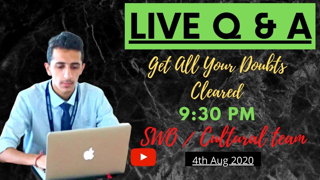 Christ University - SWO, CAPS & CULTURAL TEAM | Live Q&A | Get Your Doubts Cleared !