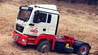 RC MAN TGS 4x4 and SCANIA P440 4x4 OFF-ROAD