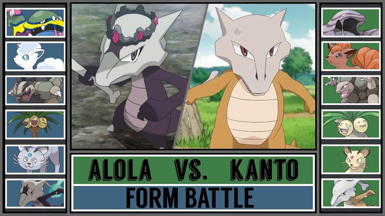 Form Battle: KANTO vs. ALOLA POKÉMON (Pokémon Sun/Moon ...