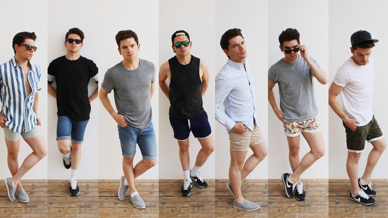 black jean shorts mens style