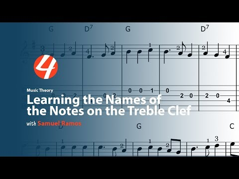 Music Theory: Learning the Names of the Notes on the Treble Clef