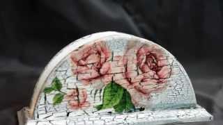 Красивые салфетницы своими руками из разных материалов, дерево, декупаж, печворк, квиллинг и др