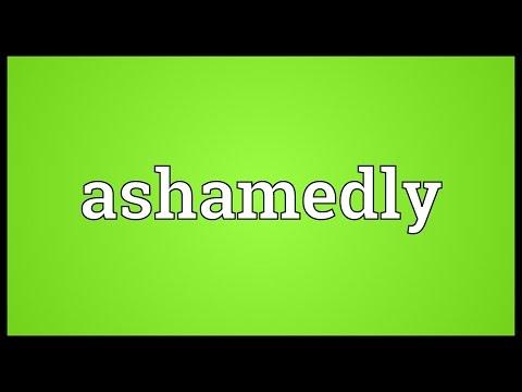 Header of ashamedly