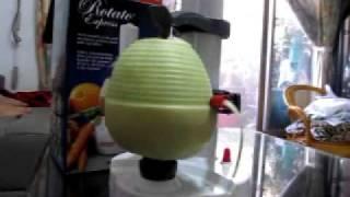 電動自動水果削皮機~香瓜版!