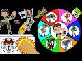 BEN 10 vs VOLTRON TOYS Spinning Wheel Slime Game | Aliens + Legendary Lions TV Shows