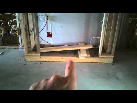 How we frame a built in gas Fireplace