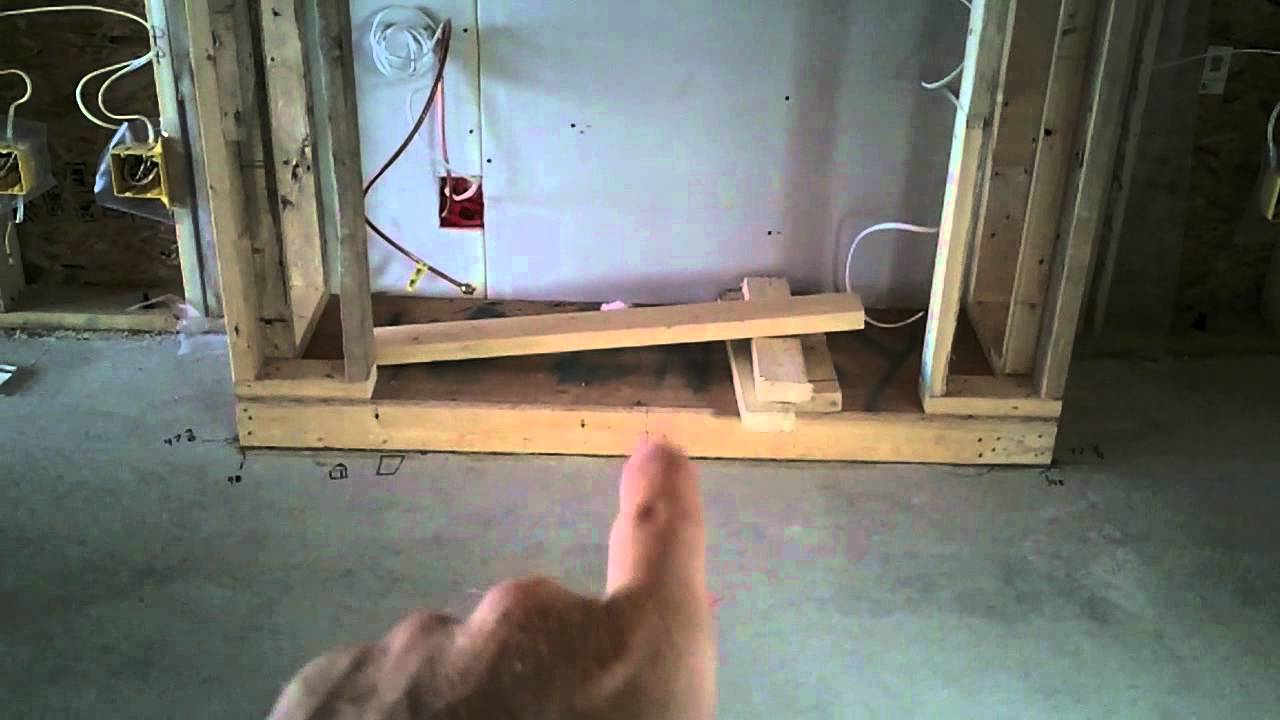 How we frame a built in gas Fireplace  YouTube