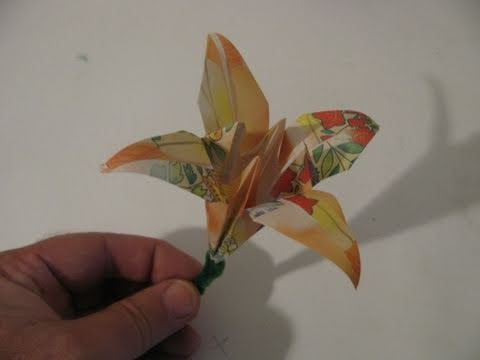 Step By Step Instructions How To Make Origami An Iris. Stock ...   360x480