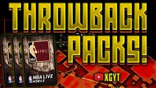 3X THROWBACK PACKS!! [THROWBACK THURSDAY #1] - NBA Live Mobile