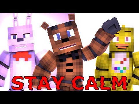 """""""Stay Calm"""" - FNAF Minecraft Music Video [Song by Fandroid]"""