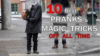 TOP 10 PRANKS \u0026 Magic tricks OF ALL TIME - Julien Magic