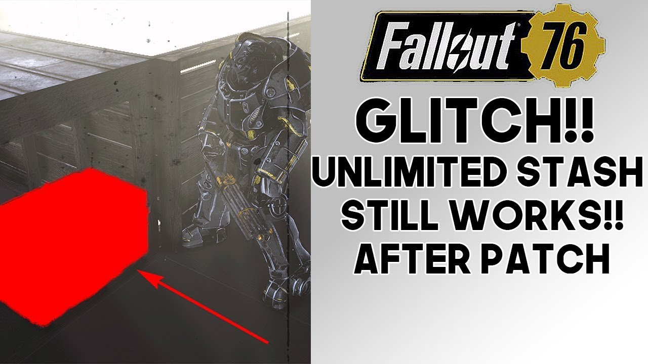 Fallout 76 GLITCH!! UNLIMITED Stash STILL WORKS After Patch!! (1 0 2 3)