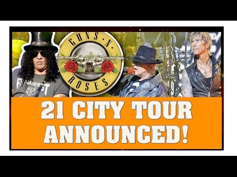 Guns N' Roses 2016 Reunion News  21 City Not In This Lifetime Tour Announced & Axl To Front AC:DC?