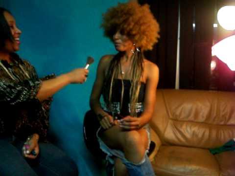 Barbra Westside interviews Eryka Badu.......cousin