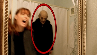 Woman attacked by ghost in bathroom! Horror video of apparition caught on tape in investigation vlog