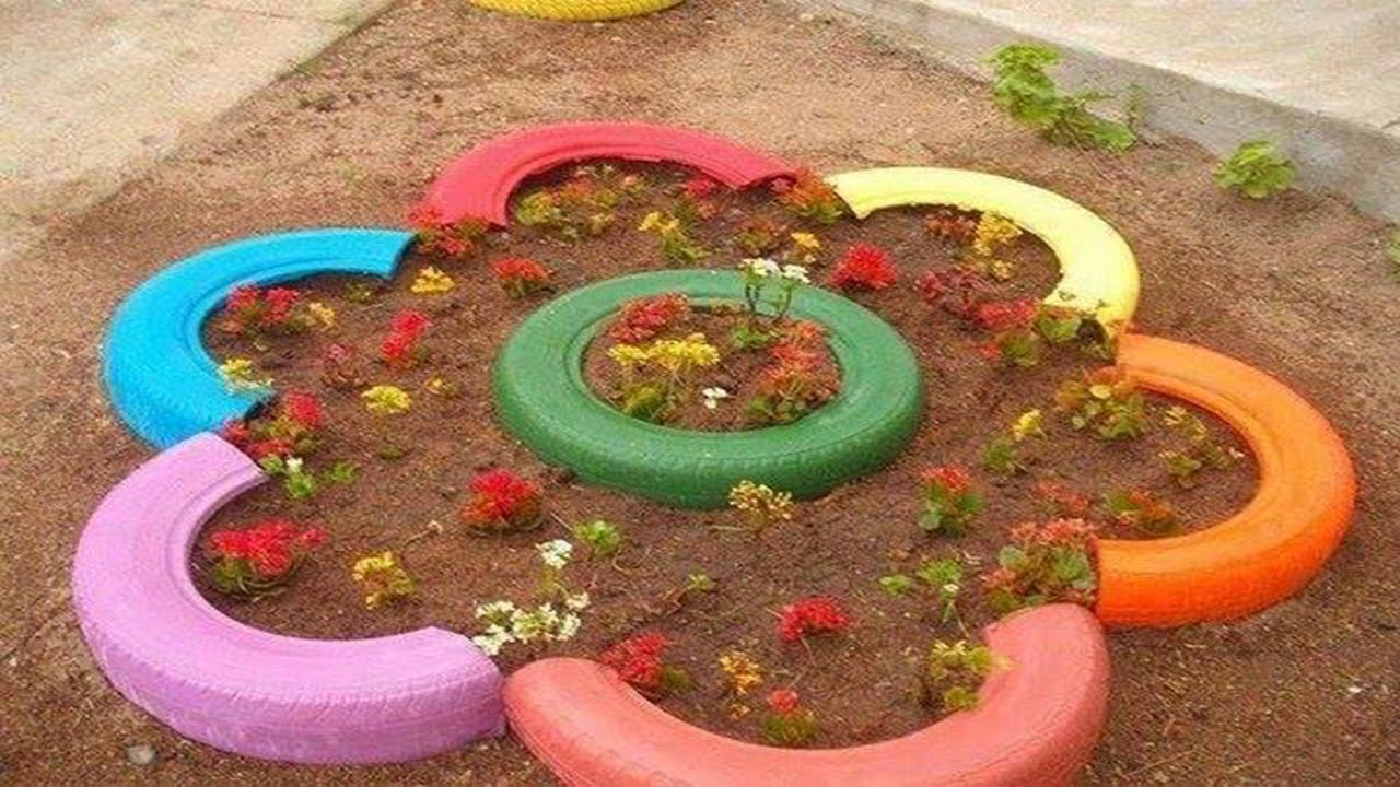 great way to reuse tires youtube - Garden Ideas Using Old Tires