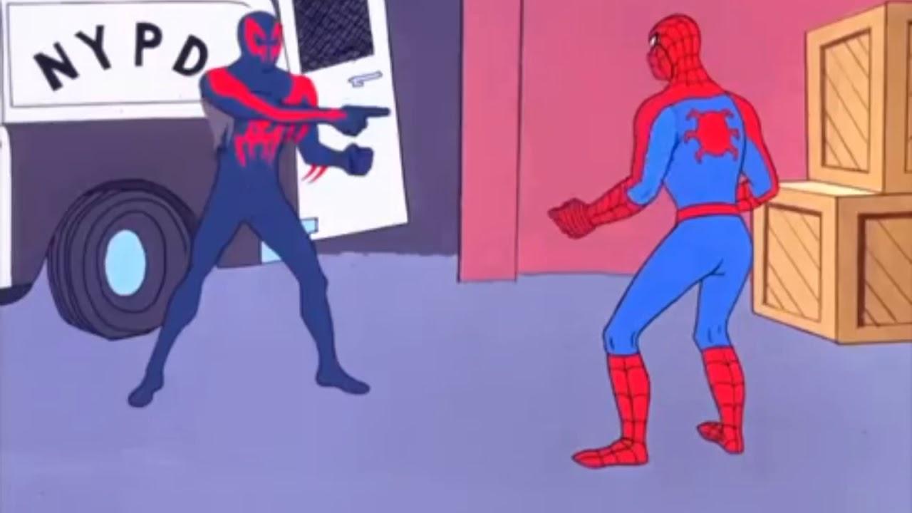 Spider-man pointing scene *meme* - YouTube