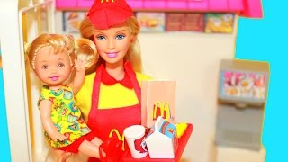 AllToyCollector Barbie Kelly McDonald's Fun Time Talking Play Set