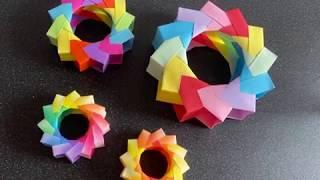 Origami 3D Wreath