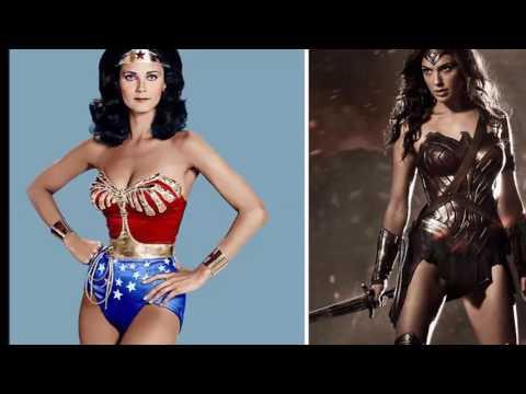 Perbedaan foto Superhero dulu dan sekarang