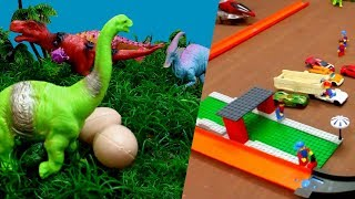 Save Wild Animals Eggs - Dinosaurs Toys For Kids  Rescue Plane,Truck,Car,Train  PlayWithAshwin