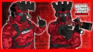 GTA 5 RED MAN DOPE MODDED OUTFIT ONLINE (FIRE MODDED OUTFITS)
