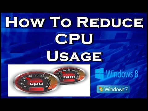 how to change cpu usage windows 7